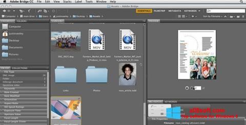 Снимка на екрана Adobe Bridge за Windows 8
