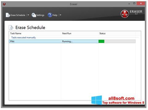 Снимка на екрана Eraser за Windows 8
