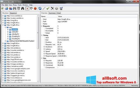 Снимка на екрана Charles за Windows 8