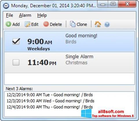 Снимка на екрана Free Alarm Clock за Windows 8