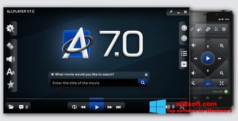 Снимка на екрана ALLPlayer за Windows 8