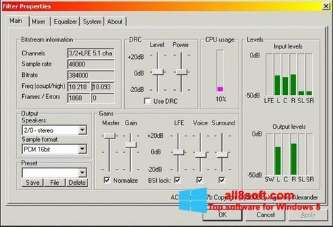 Снимка на екрана AC3 Codec за Windows 8