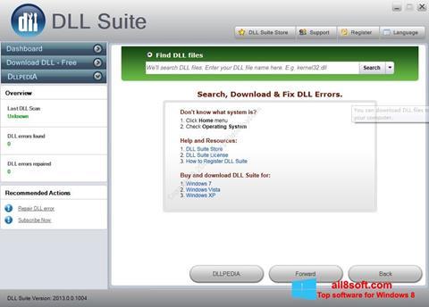 Снимка на екрана DLL Suite за Windows 8