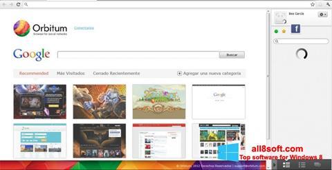 Снимка на екрана Orbitum за Windows 8