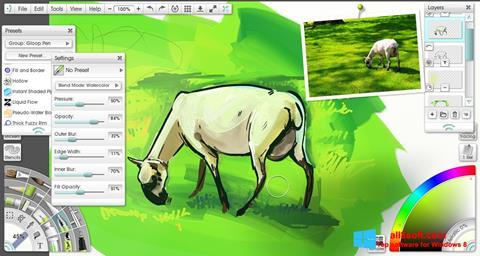 Снимка на екрана ArtRage за Windows 8