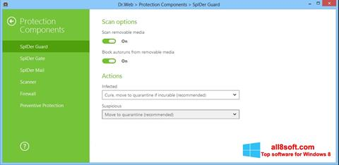 Снимка на екрана Dr.Web Security Space за Windows 8