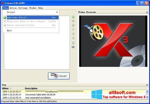 Снимка на екрана ConvertXToDVD за Windows 8