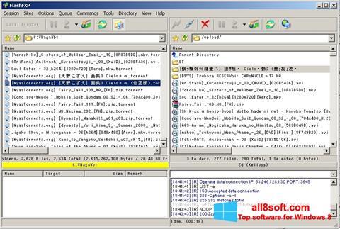 Снимка на екрана FlashFXP за Windows 8