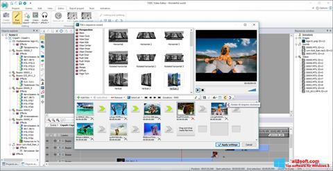 Снимка на екрана VSDC Free Video Editor за Windows 8