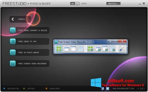 Снимка на екрана Free Studio за Windows 8