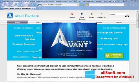 Снимка на екрана Avant Browser за Windows 8