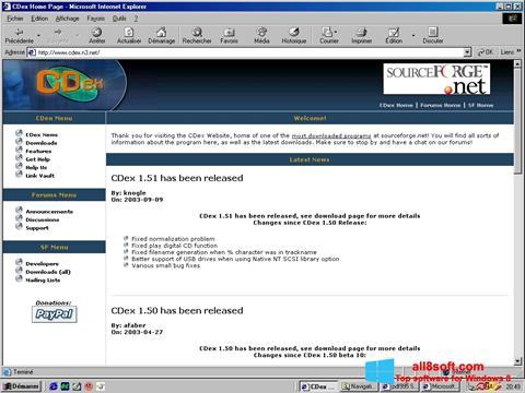 Снимка на екрана CDex за Windows 8