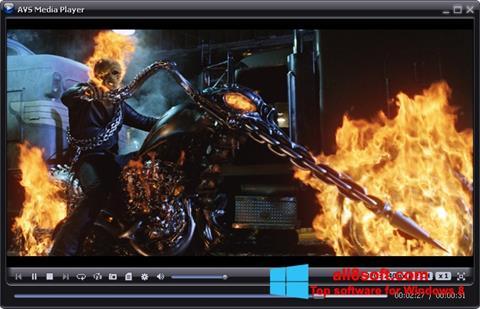 Снимка на екрана AVS Media Player за Windows 8
