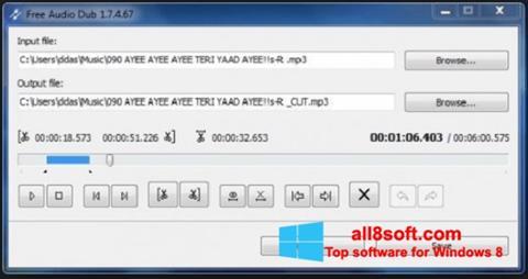 Снимка на екрана Free Audio Dub за Windows 8