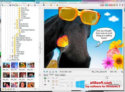 Снимка на екрана PhotoScape за Windows 8