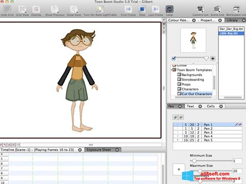 Снимка на екрана Toon Boom Studio за Windows 8