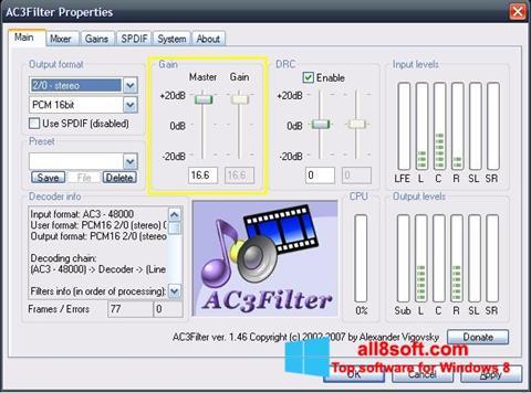 Снимка на екрана AC3Filter за Windows 8