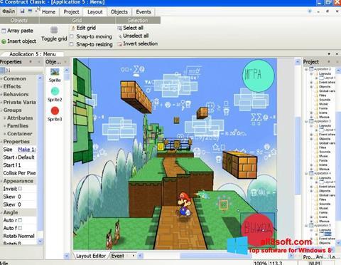Снимка на екрана Construct Classic за Windows 8
