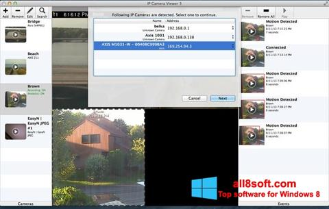 Снимка на екрана IP Camera Viewer за Windows 8