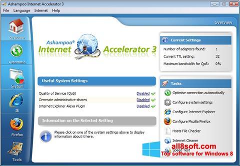 Снимка на екрана Ashampoo Internet Accelerator за Windows 8