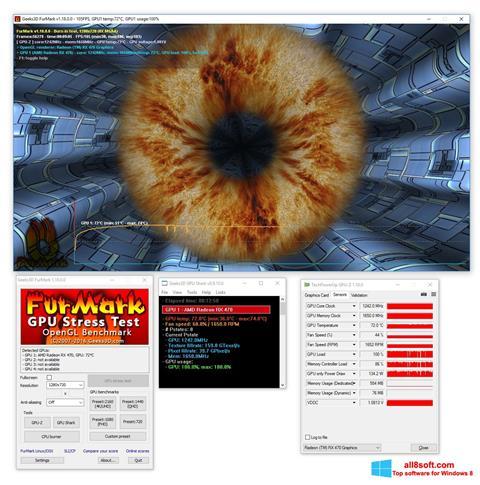 Снимка на екрана FurMark за Windows 8