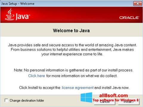 Снимка на екрана Java Runtime Environment за Windows 8