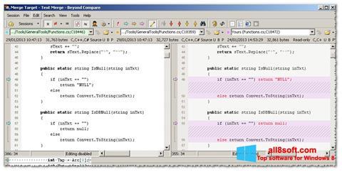 Снимка на екрана Beyond Compare за Windows 8