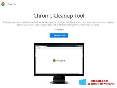 Снимка на екрана Chrome Cleanup Tool за Windows 8