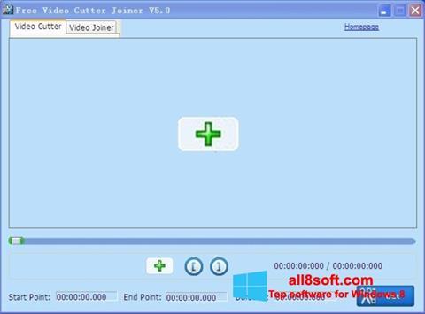 Снимка на екрана Free Video Cutter за Windows 8