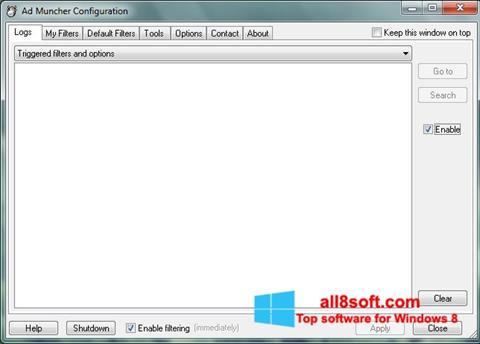 Снимка на екрана Ad Muncher за Windows 8