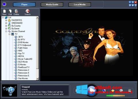 Снимка на екрана Online TV Live за Windows 8