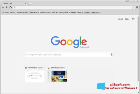 Снимка на екрана Google Chrome за Windows 8