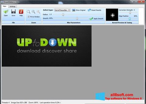 Снимка на екрана SmartDeblur за Windows 8