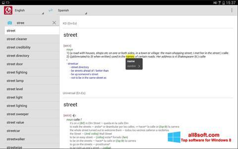 Снимка на екрана ABBYY Lingvo за Windows 8