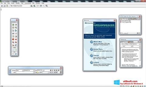 Снимка на екрана Macromedia Dreamweaver за Windows 8
