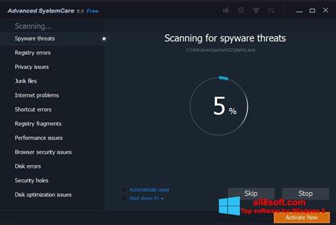 Снимка на екрана Advanced SystemCare Pro за Windows 8