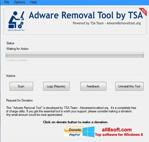 Снимка на екрана Adware Removal Tool за Windows 8