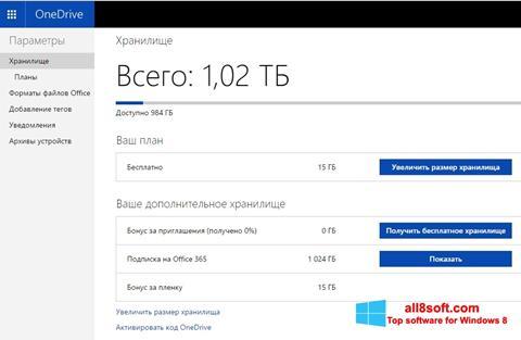 Снимка на екрана OneDrive за Windows 8