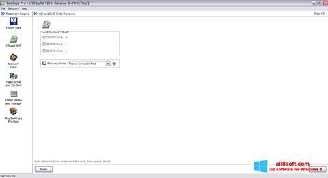 Снимка на екрана BadCopy Pro за Windows 8
