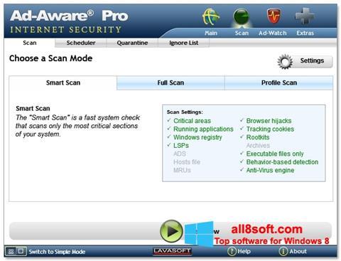 Снимка на екрана Ad-Aware за Windows 8