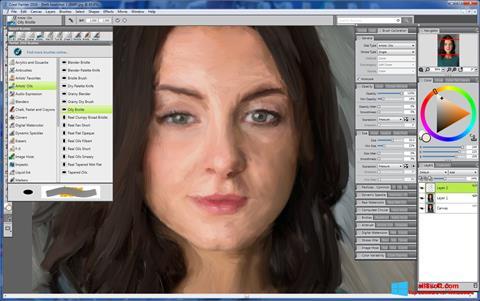 Снимка на екрана Corel Painter за Windows 8