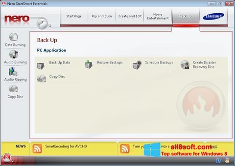 Снимка на екрана Nero за Windows 8