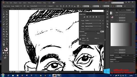 Снимка на екрана Adobe Illustrator за Windows 8