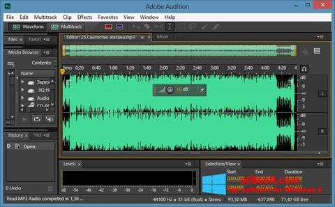Снимка на екрана Adobe Audition CC за Windows 8