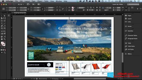 Снимка на екрана Adobe InDesign за Windows 8
