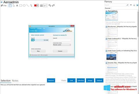 Снимка на екрана AeroAdmin за Windows 8