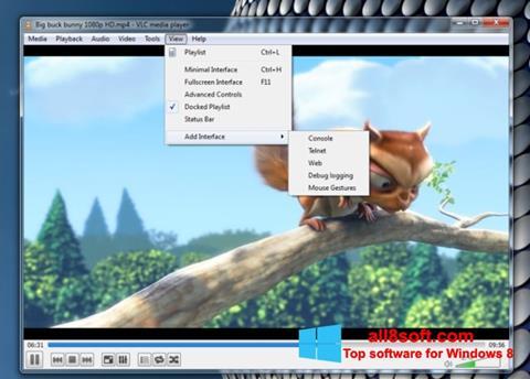 Снимка на екрана VLC Media Player за Windows 8