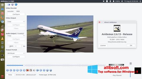Снимка на екрана Avidemux за Windows 8