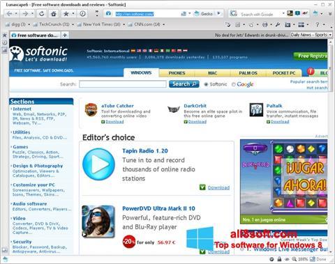 Снимка на екрана Lunascape за Windows 8