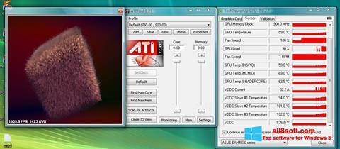 Снимка на екрана ATITool за Windows 8